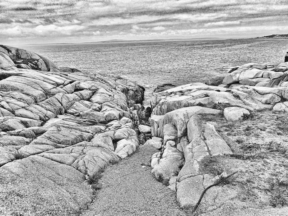 Photo taken on a gloomy September day in Peggy's Cove.