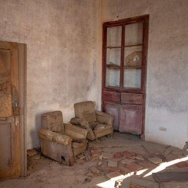 Left furniture in a ruin, Portugal