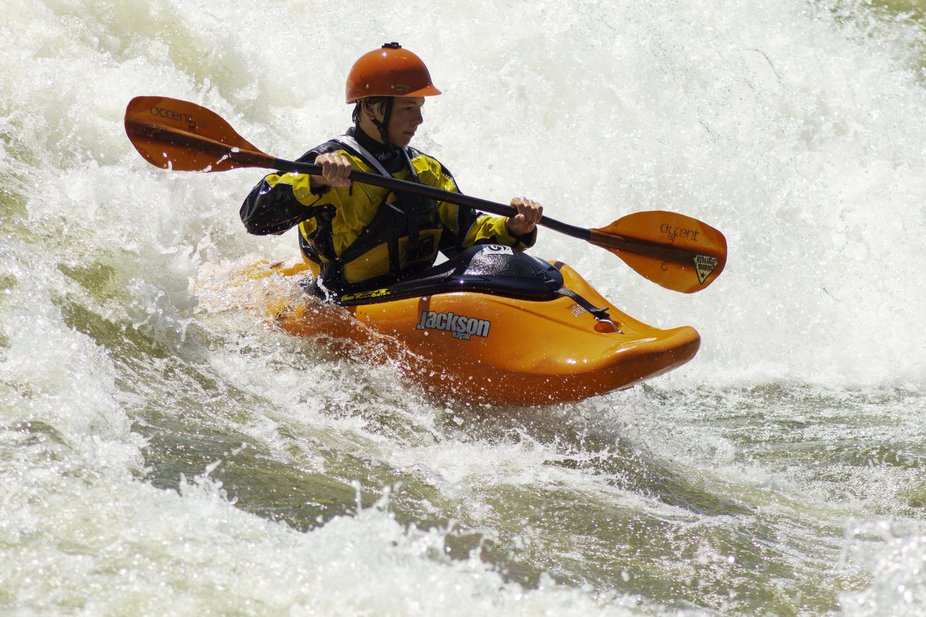 Photo taken at the Whitewater Express Course, on the Chattahoochee River in Columbus, Georgia.