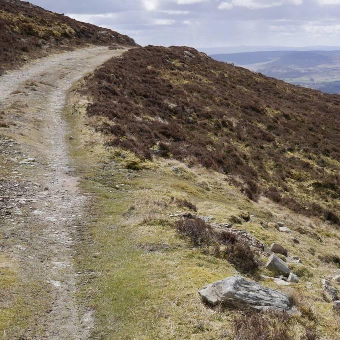 Track at 878metres asl. Perthshire, UK