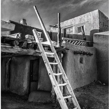 Taos Pueblo Casita #taospueblo #architecturallandscapes #southwest #southwestpueblos #blackandwhitephotography