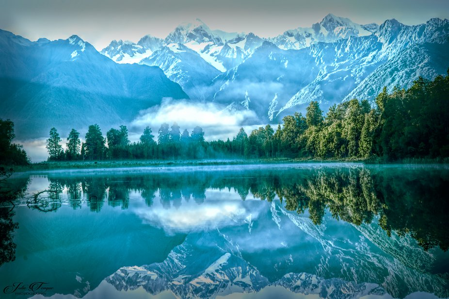 Reflection Lake in New Zealand