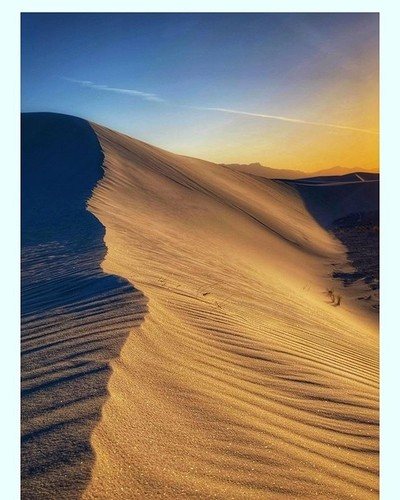 White Sands Sand Dunes at Sunset