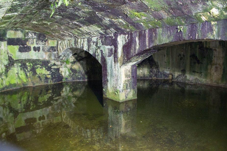 Underground water reservoir Fort at LaCoruna