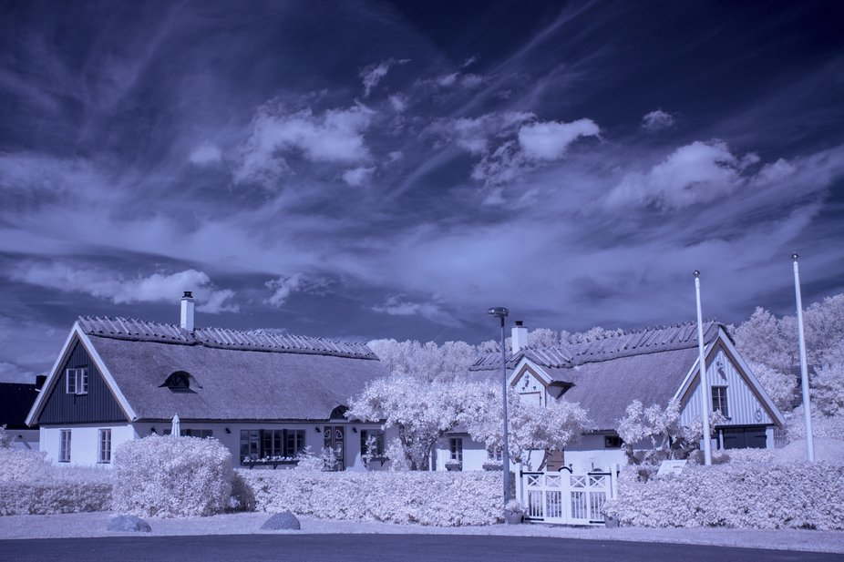Swedish old houses in infrared