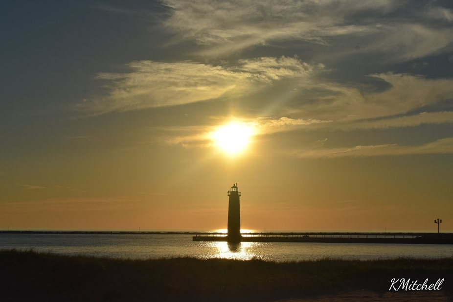 Sunset above the lighthouse