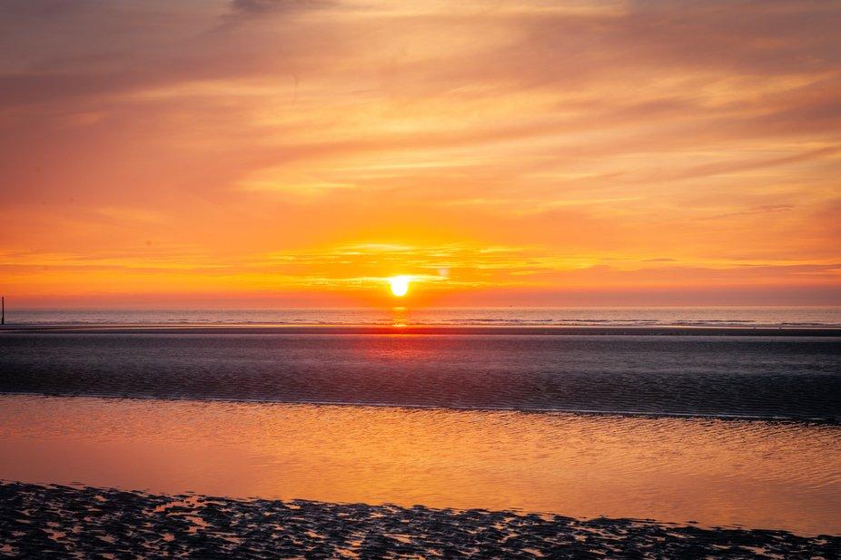 Sunset @ De Panne, Belgian Coast