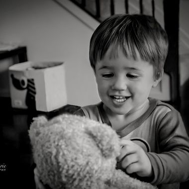 {Jax} Smiling with Teddy