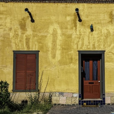 a window & a door