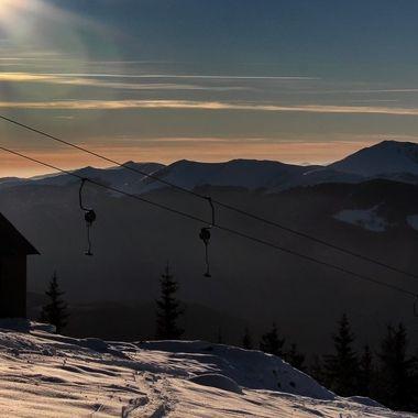 Ski lift in Parang Mountains