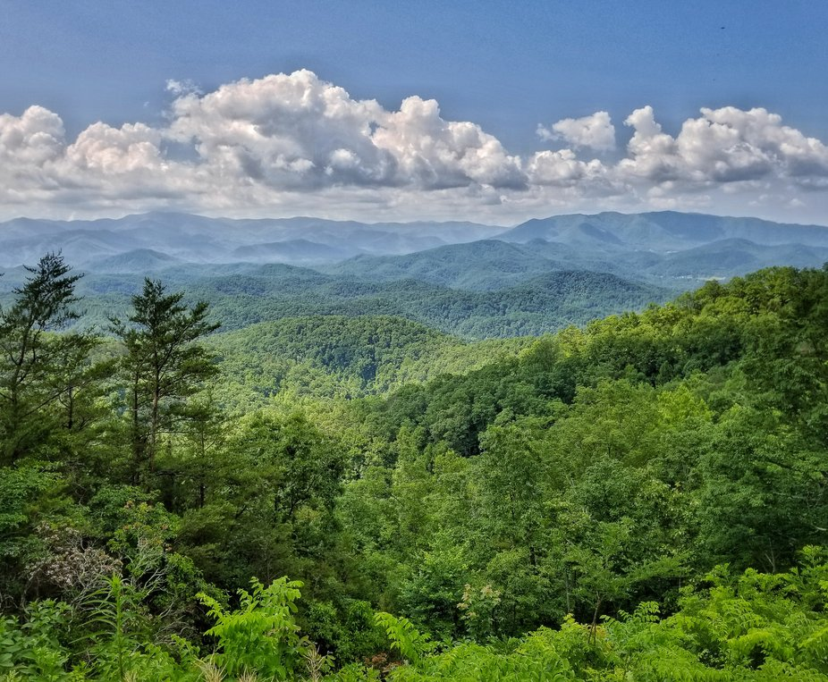 Smoky Mountains from the new parkway.