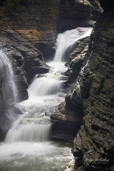 One of the many waterfallls at Watkins Glen State Park, NY USA