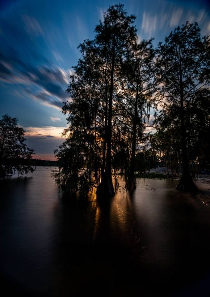 Sunset on Lake Moultrie in Russellville, South Carolina