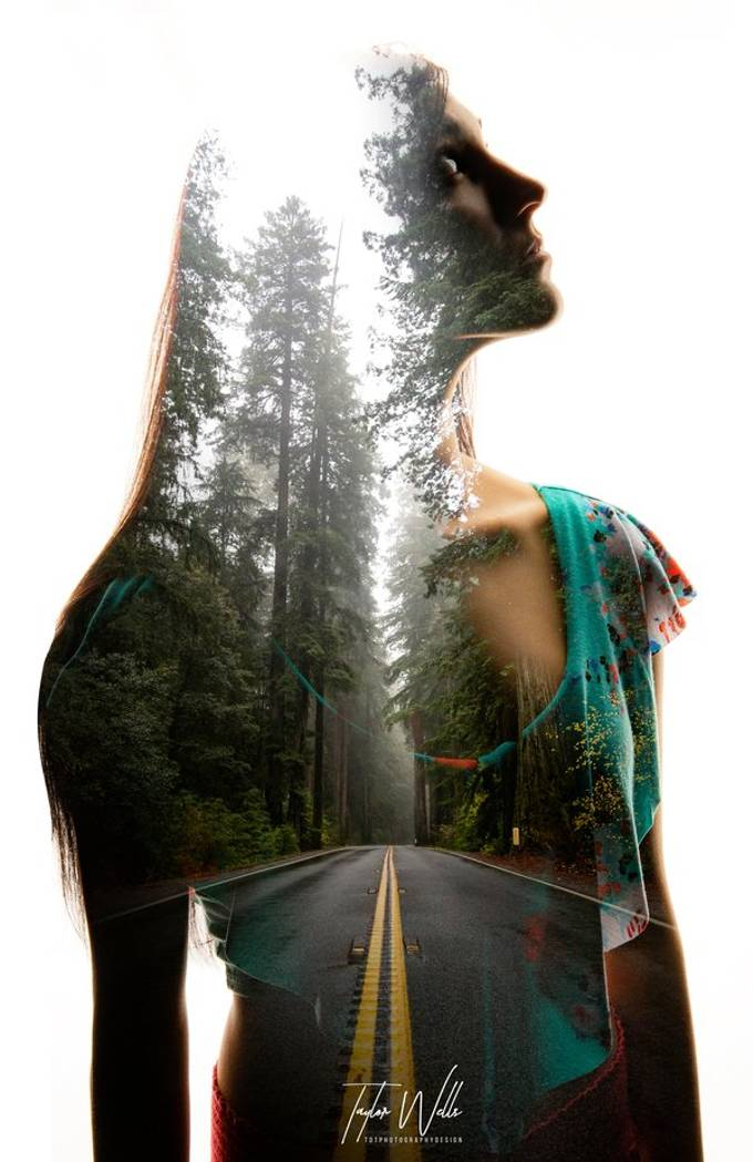 This is one of my favorite double exposures I have created, the way the photos blended with one another made for a very beautiful effect.