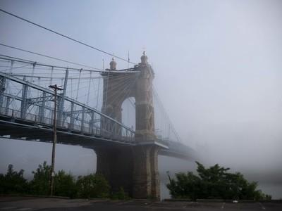 Roebling Bridge Morning Fog