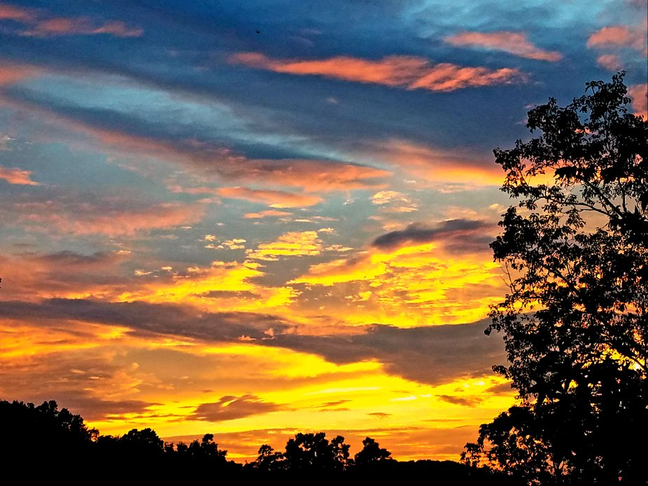 The view from my porch the other evening.