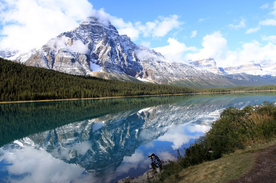 Waterfowl Lake, the Icefields Parkway , Alberta Canada