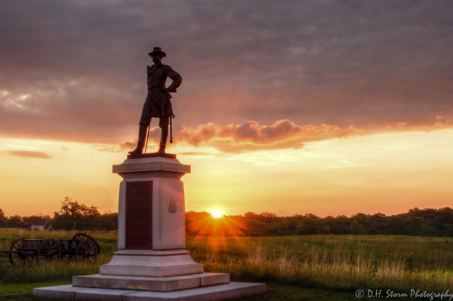 Sunrise over Gettysburg
