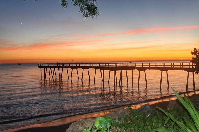 Inspiring start to the day at Scarness Pier, Hervey Bay