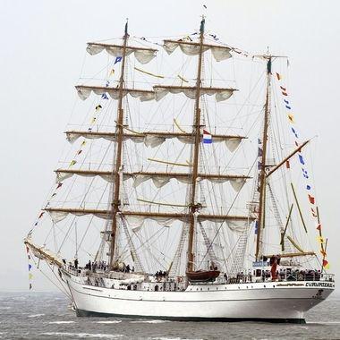 Mexican tall ship, Den Helder, Holland