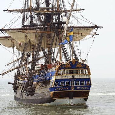 Swedish tall ship at Den Helder, Holland