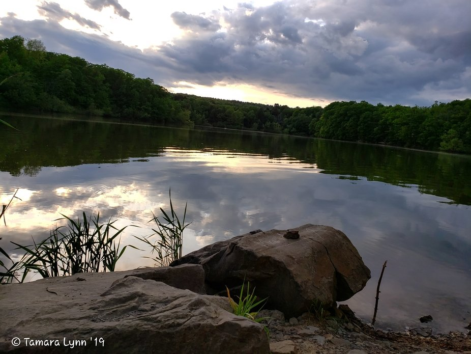 This picture was taken at Quemahoning Dam in Hollsopple,Pa. My daughter and I were just visiting ...