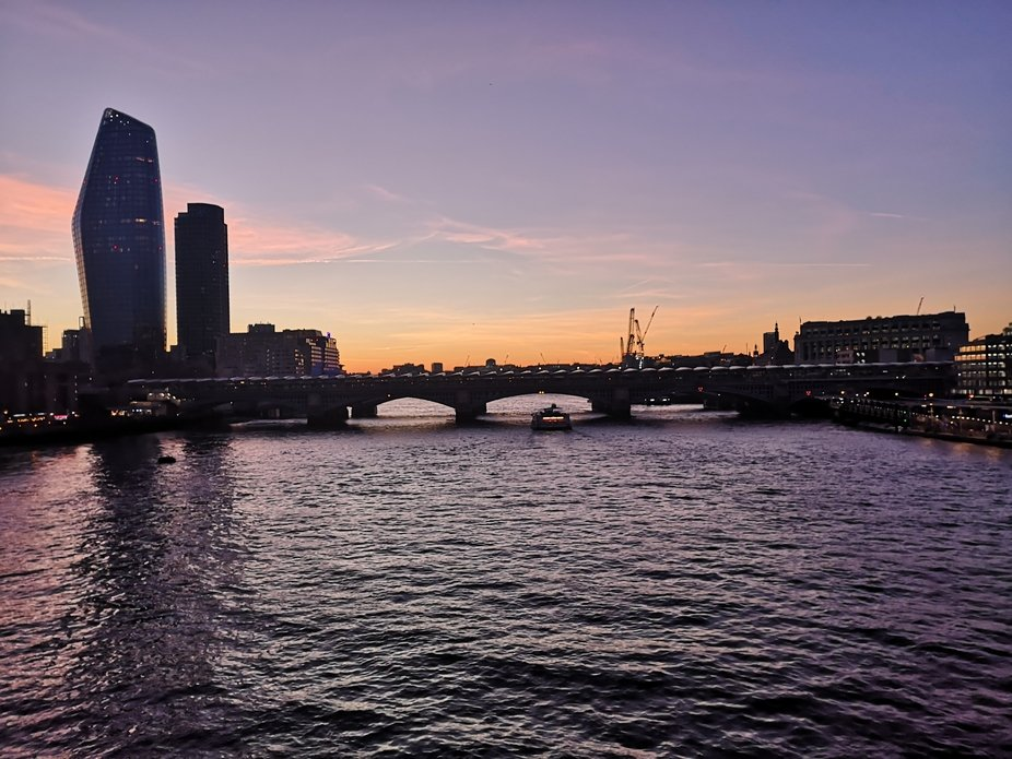 Valentine's Day walk across Millennium Bridge in London