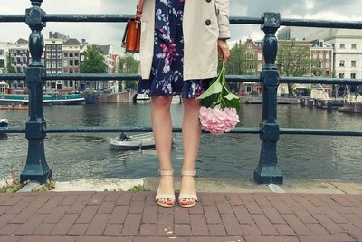 Amsterdam and the hydrangea flower.