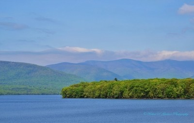 Ashokan Reservoir and Hazy Catskills Beyond