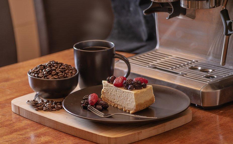 Home Baked New York Cheesecake & Espresso Coffee