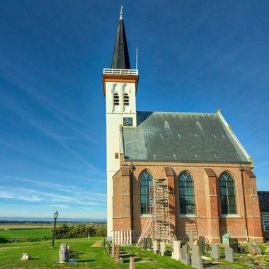 The little church of Den Hoorn, Texel, Holland