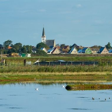 little town at the isle of Texel, Holland