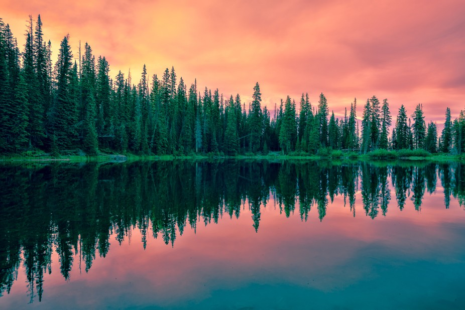 I took this photo early in the morning at Hardscrabble Lake. I have been experimenting with the t...