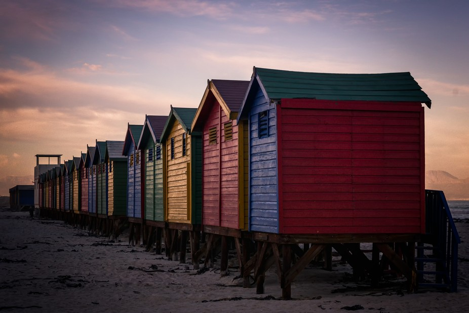 Muizenberg is a beach-side suburb of Cape Town, South Africa. It is situated where the shore of t...