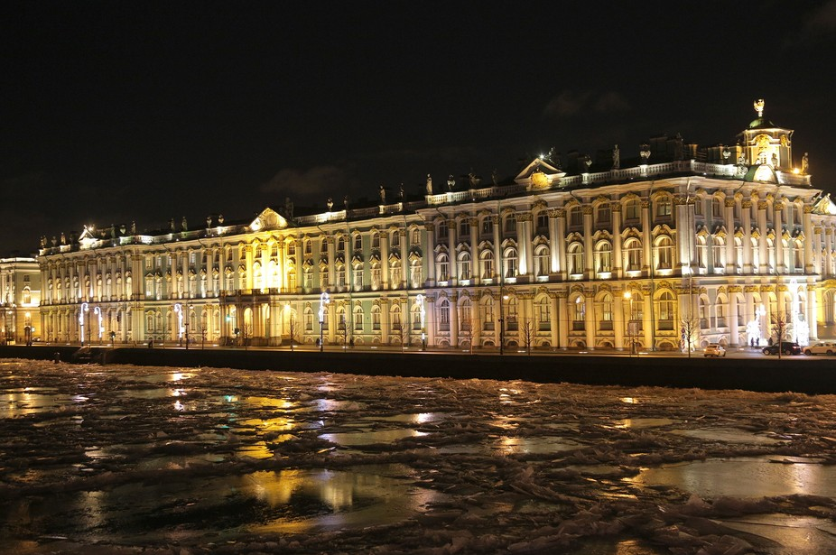 The Hermitage Palace in St. Petersburg