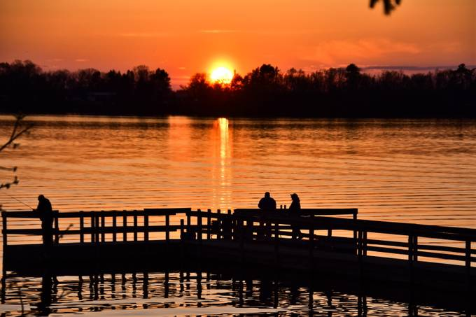 Pelican Lake fishing dock