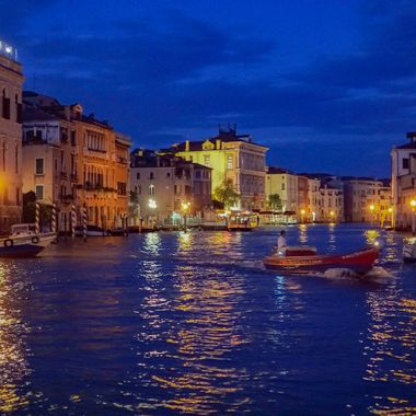 Venezia Buona Notte from the Grand Canal