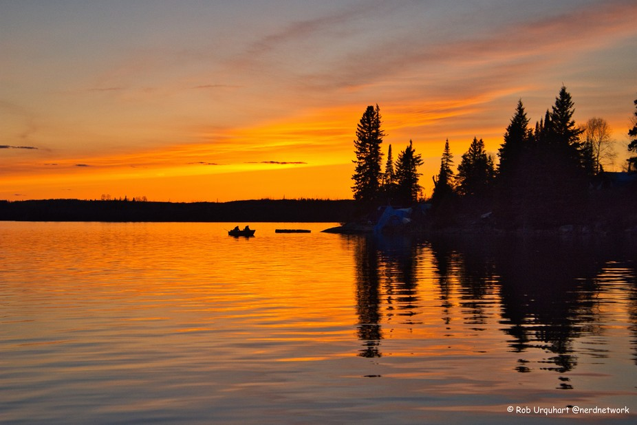 Sunset on Thicketwood lake