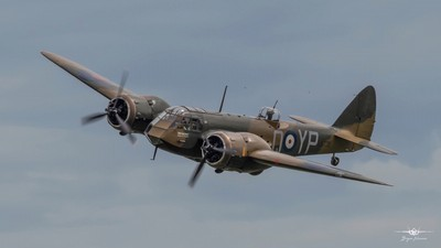 The beautiful Bristol Blenheim G-BPIV puts on a brilliant display at the Flying Festival at Old Warden Shuttleworth 2-6-19