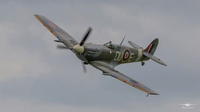 2-6-19 Shuttleworth Flying Festival - Great to see Spitfire LF Mk. VC, AR501  in action over Old Warden