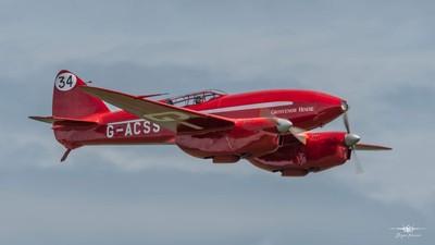 Shuttleworth Flying Festival 2-6-19  The superb de Havilland DH.88 Comet (G-ACSS)