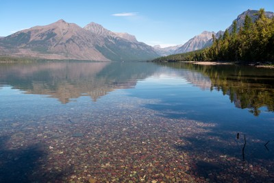 Scenic view of Lake McDonald in Montana