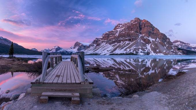 Sunrise at Bow Lake by michaelf_01 - Canada Photo Contest