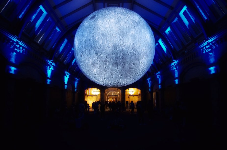Museum of the Moon is a touring artwork by UK artist Luke Jerram. This was taken at the Natural H...