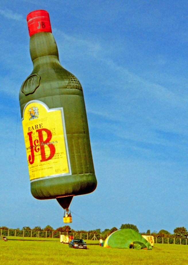 J&B Whisky balloon taken at RIAT air show RAF Fairford.