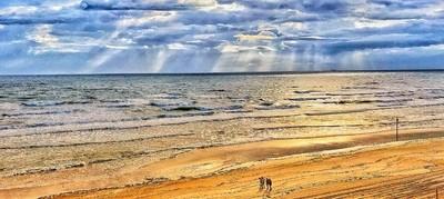 Sunrise Stroll Along Daytona Beach, Fla.