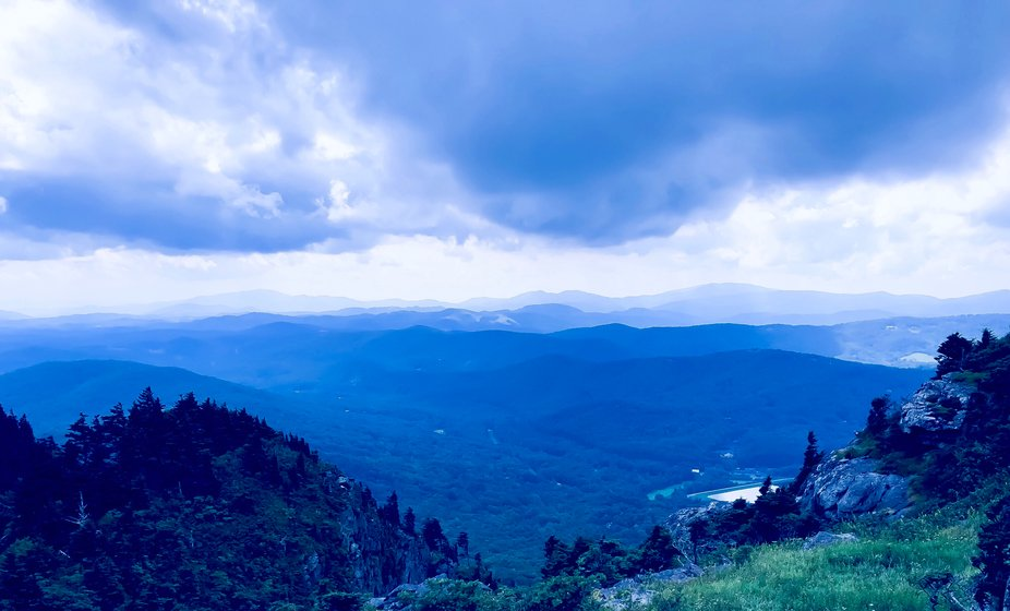 This picture was taken on top of groundfather montain in North Carolina.