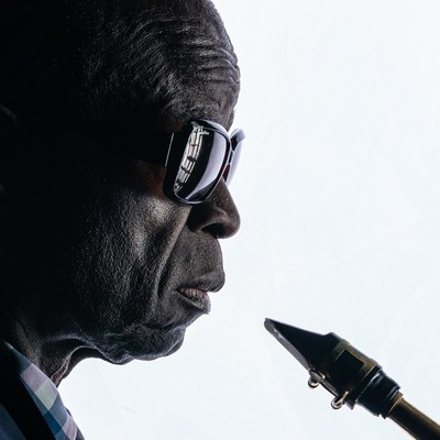 Maceo Parker just before showtime