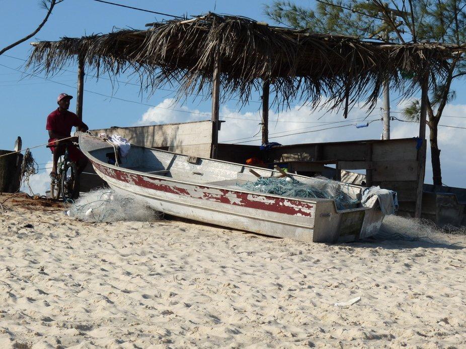 Quiosque situado na praia do cajueiro, Marica´,RJ, Brasil