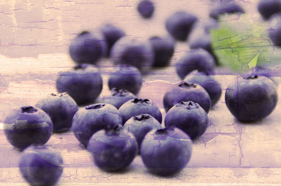 Blueberries - food culture, modern photography and editing, for lifestyle and design.